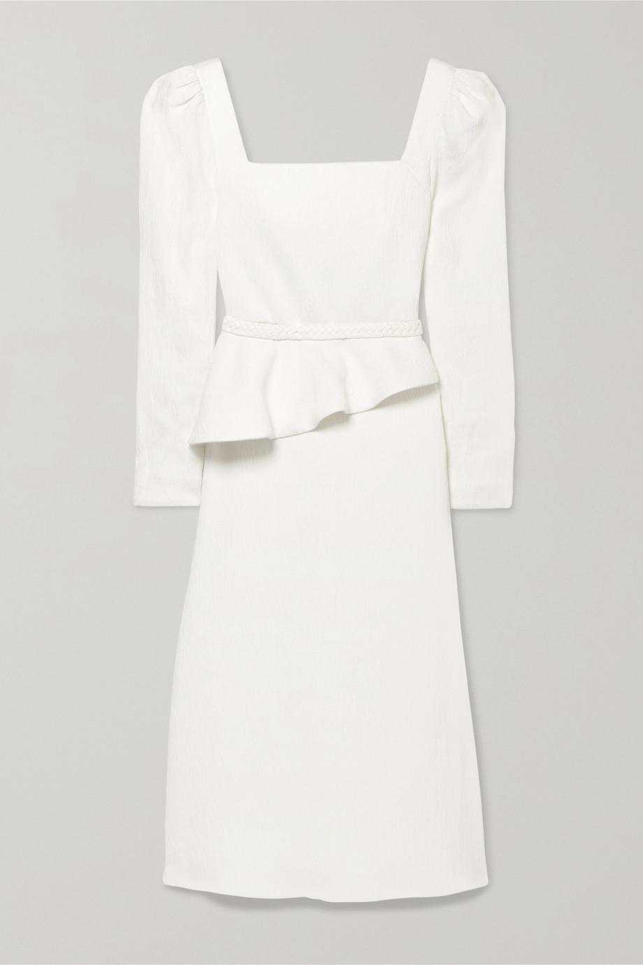 Johanna Ortiz Catalyst belted textured woven midi dress