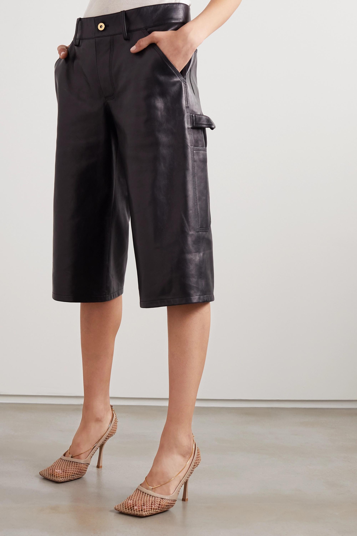 Bottega Veneta Chain-embellished macramé and leather pumps