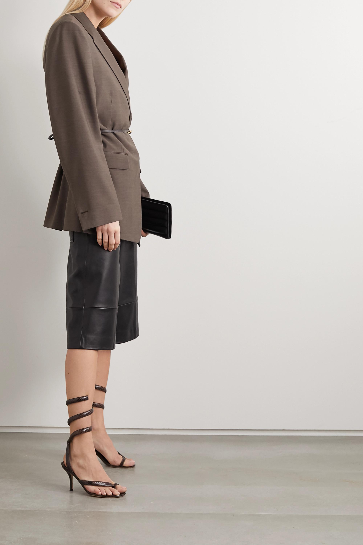 Bottega Veneta Snake-effect leather sandals