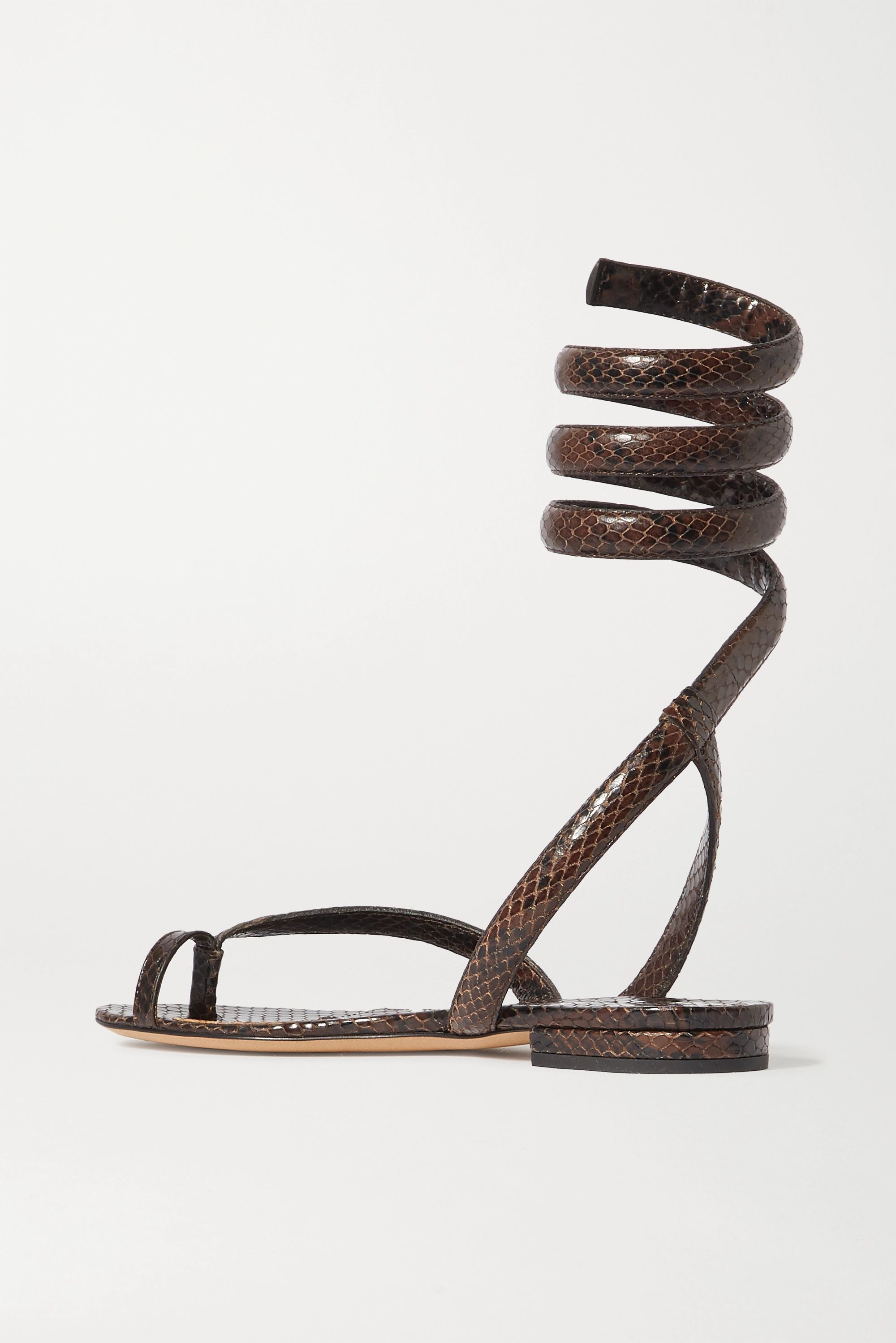Bottega Veneta Snake-effect leather sandals