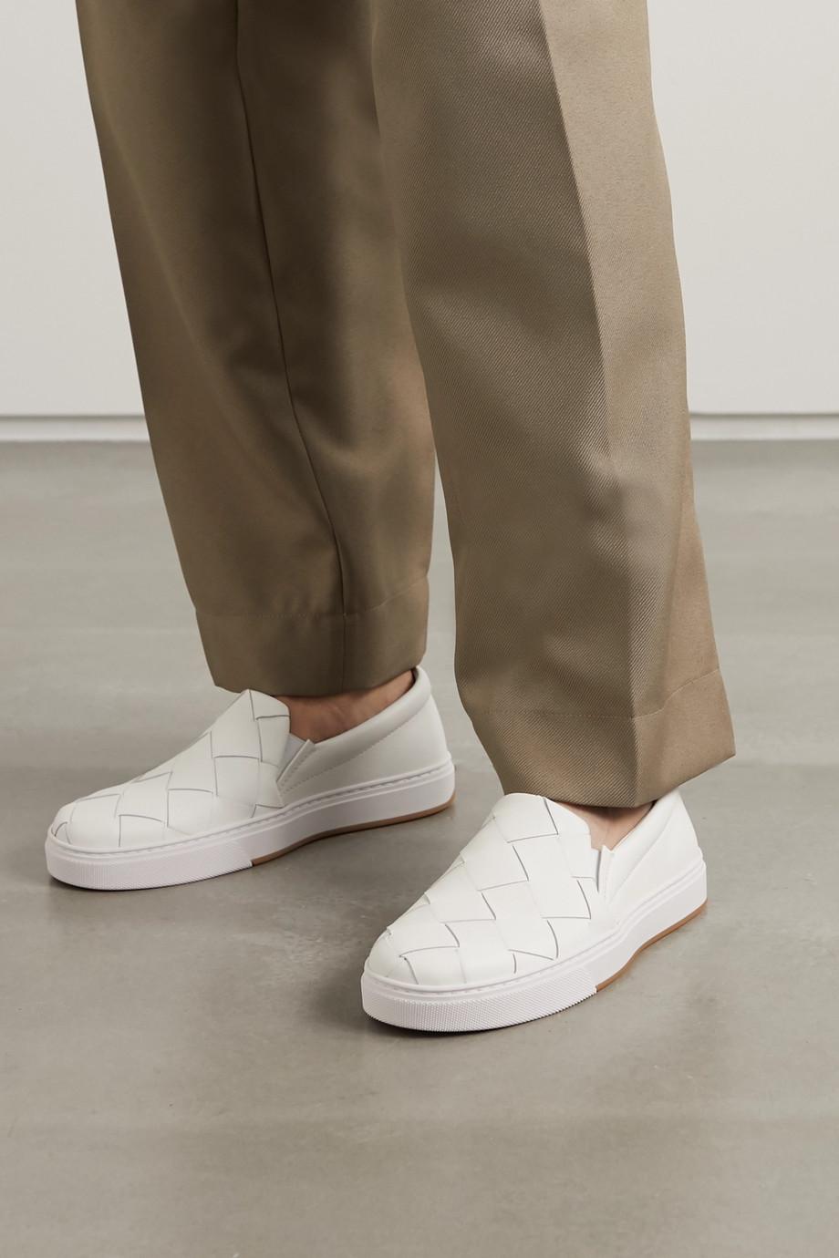 Bottega Veneta Speedster intrecciato leather slip-on sneakers