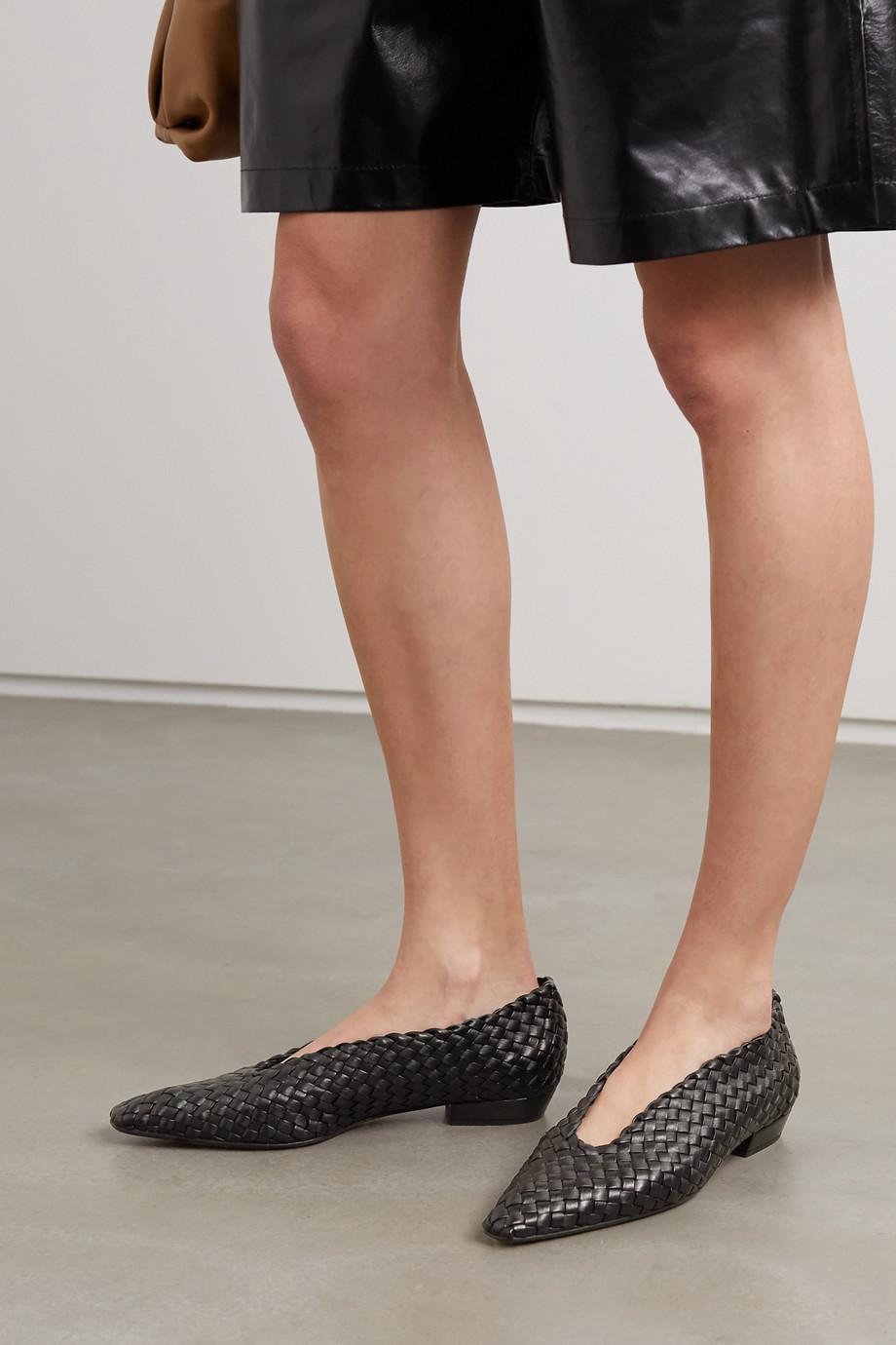 Bottega Veneta Intrecciato leather point-toe flats
