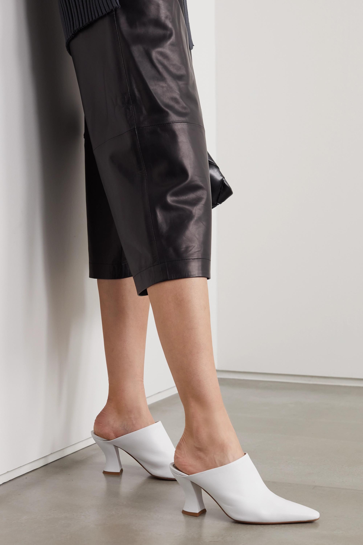 White Leather mules | Bottega Veneta