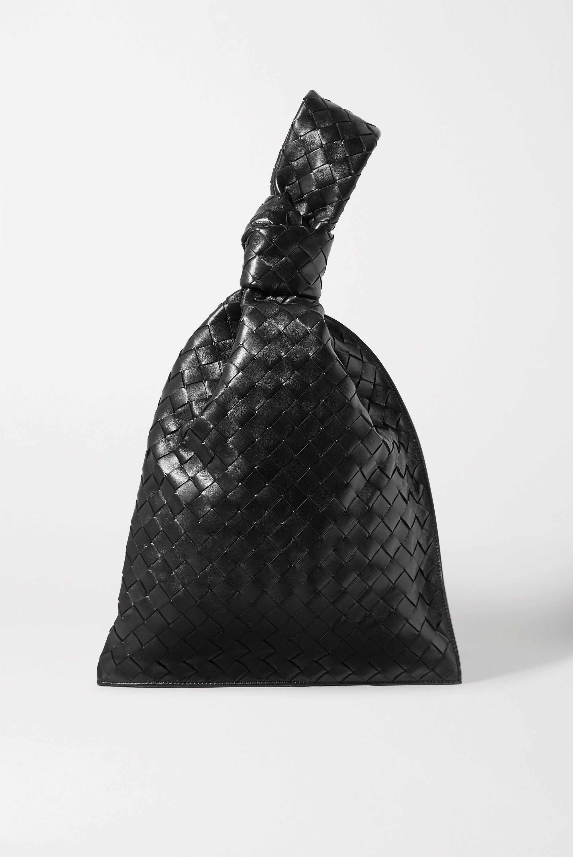 Bottega Veneta The Twist knotted intrecciato leather clutch