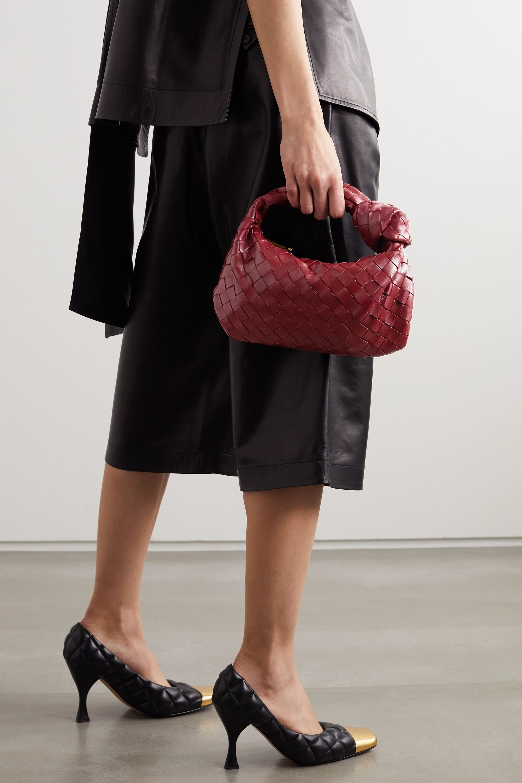 Bottega Veneta Sac à main en cuir texturé intrecciato à nœud Jodie Mini