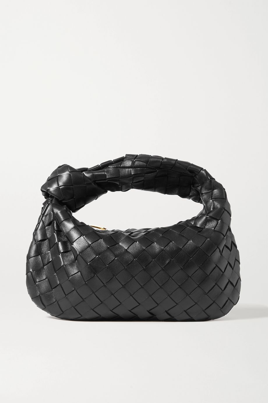Bottega Veneta Jodie mini knotted intrecciato textured-leather tote