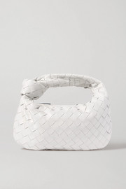 Jodie mini knotted intrecciato textured-leather tote