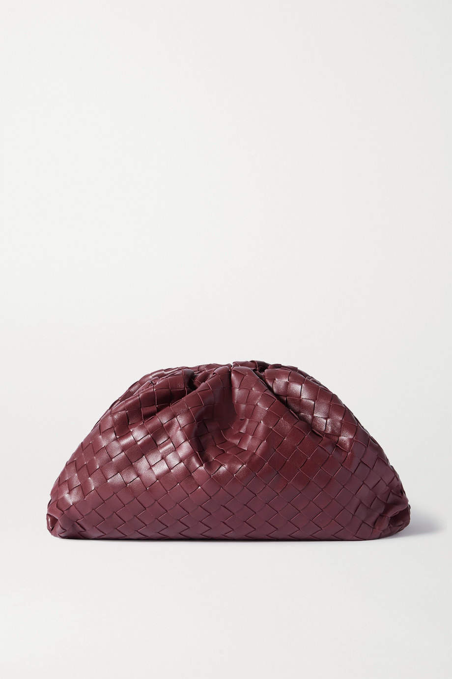 Bottega Veneta The Pouch 缩褶 Intrecciato 编织皮革大号手拿包