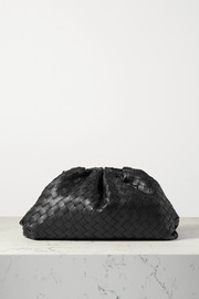 Bottega Veneta The Pouch large gathered intrecciato leather clutch