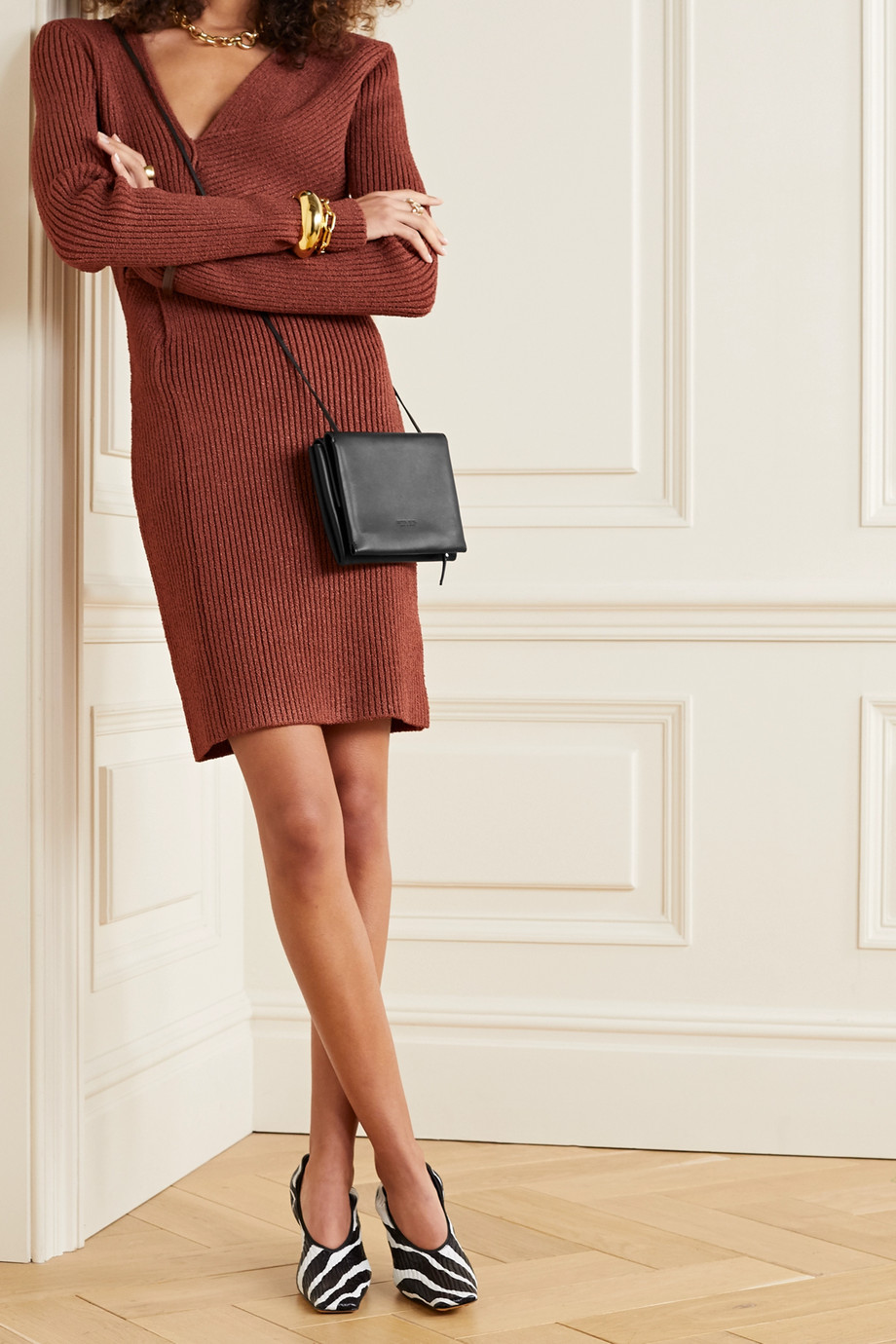 Bottega Veneta Trio leather shoulder bag