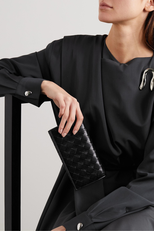 Bottega Veneta Intrecciato textured-leather continental wallet
