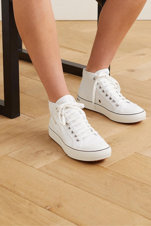 Stella McCartney + NET SUSTAIN organic cotton-canvas high-top sneakers
