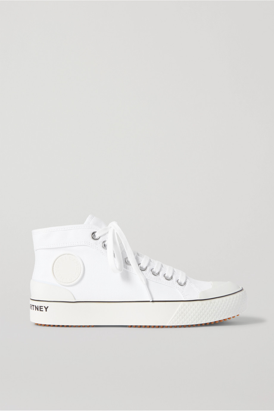 Stella McCartney + NET SUSTAIN organic cotton-canvas high-top sneakers