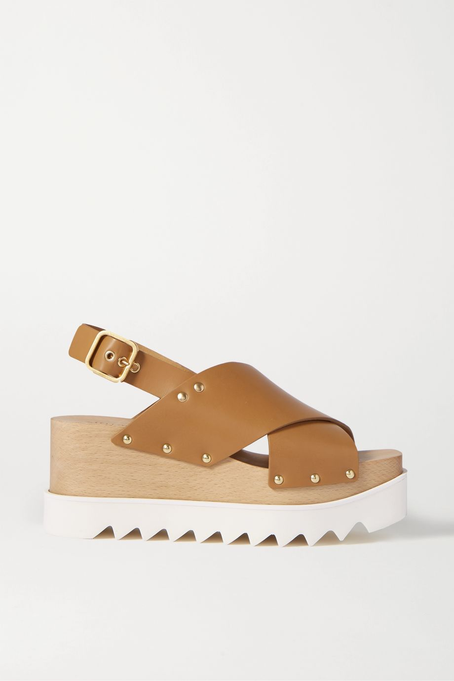 Stella McCartney Studded vegetarian leather platform sandals