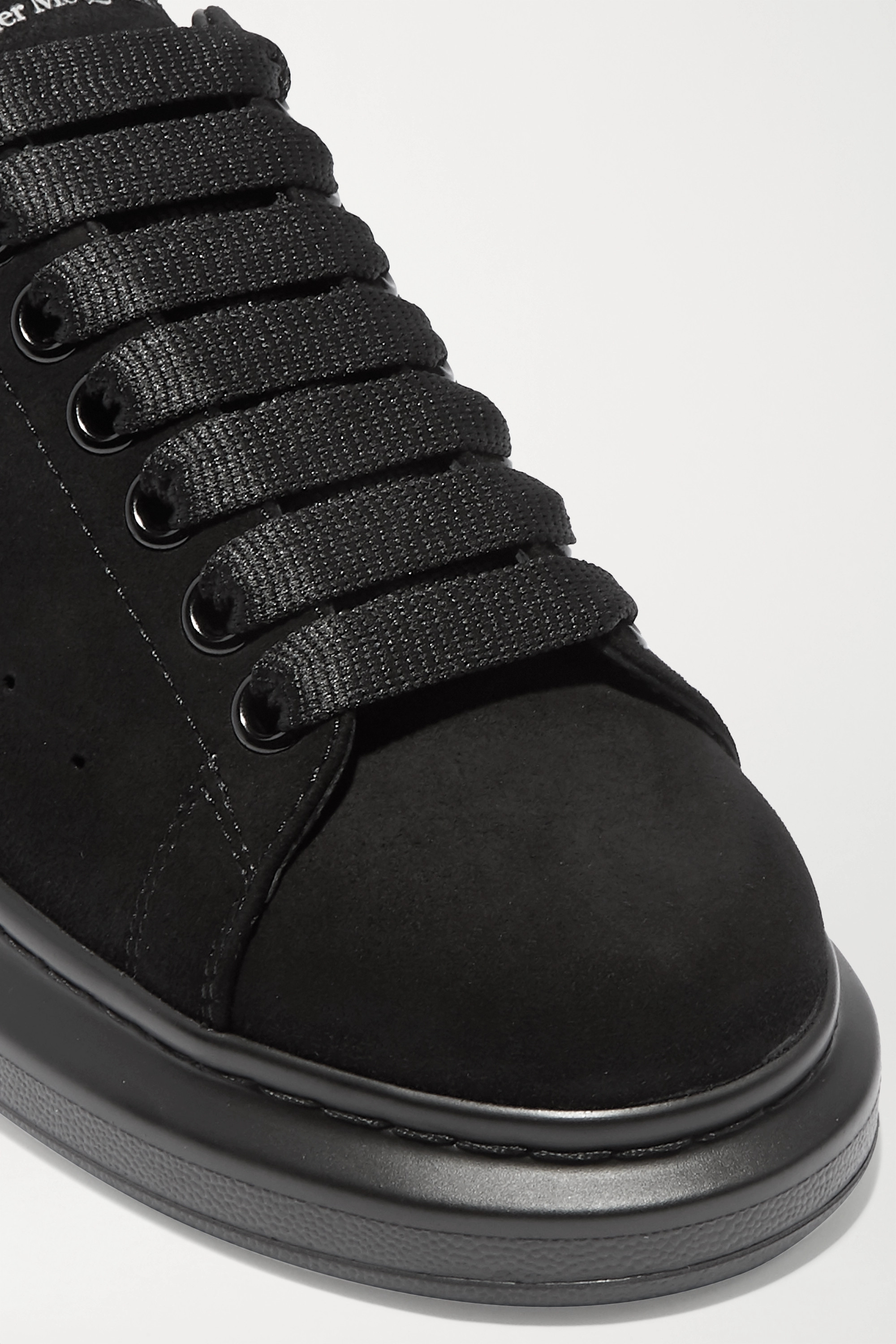 Alexander McQueen Suede exaggerated-sole sneakers