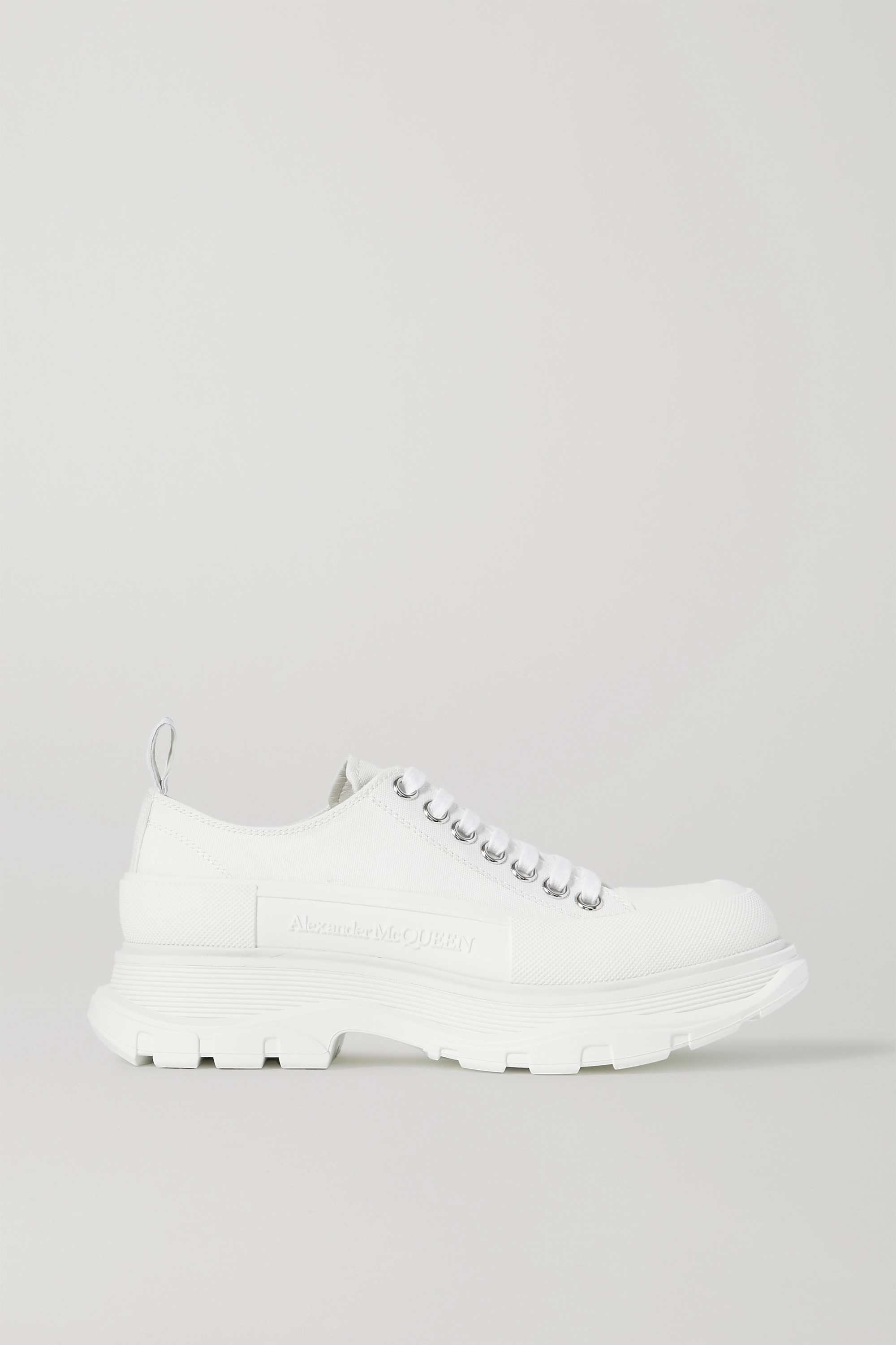 Alexander McQueen Canvas exaggerated-sole sneakers