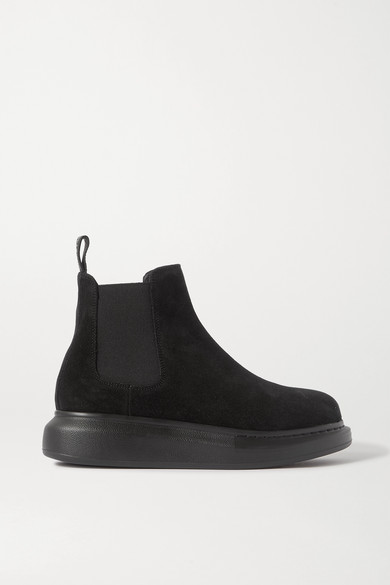 Alexander McQueen - Suede Exaggerated-sole Chelsea Boots