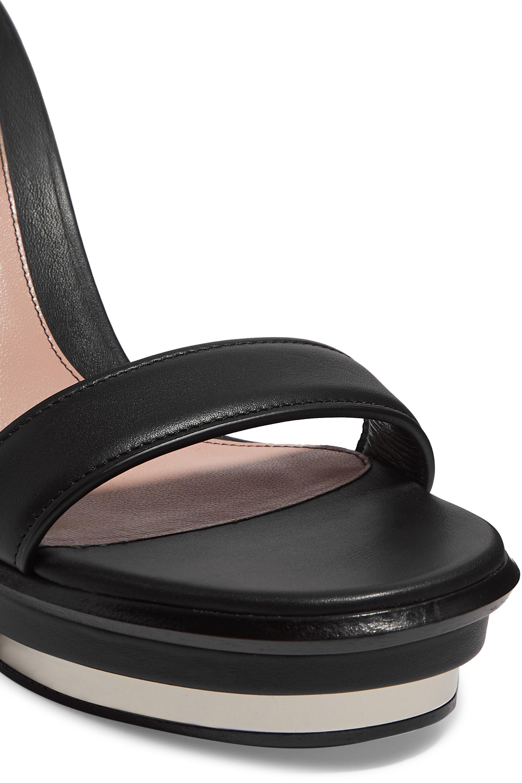 Alexander McQueen Sandales compensées en cuir à boucles