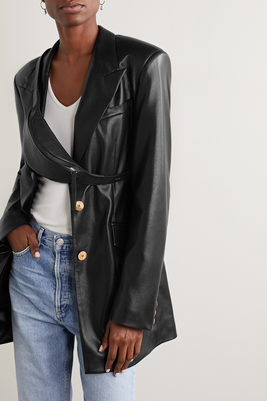 Nanushka Lubo mini leather belt bag