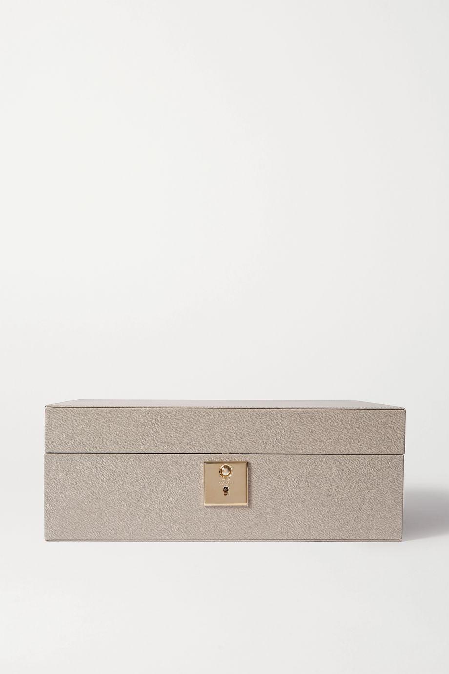 Smythson Grosvenor leather jewelry box