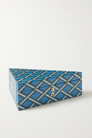 Mara printed croc-effect leather jewelry box