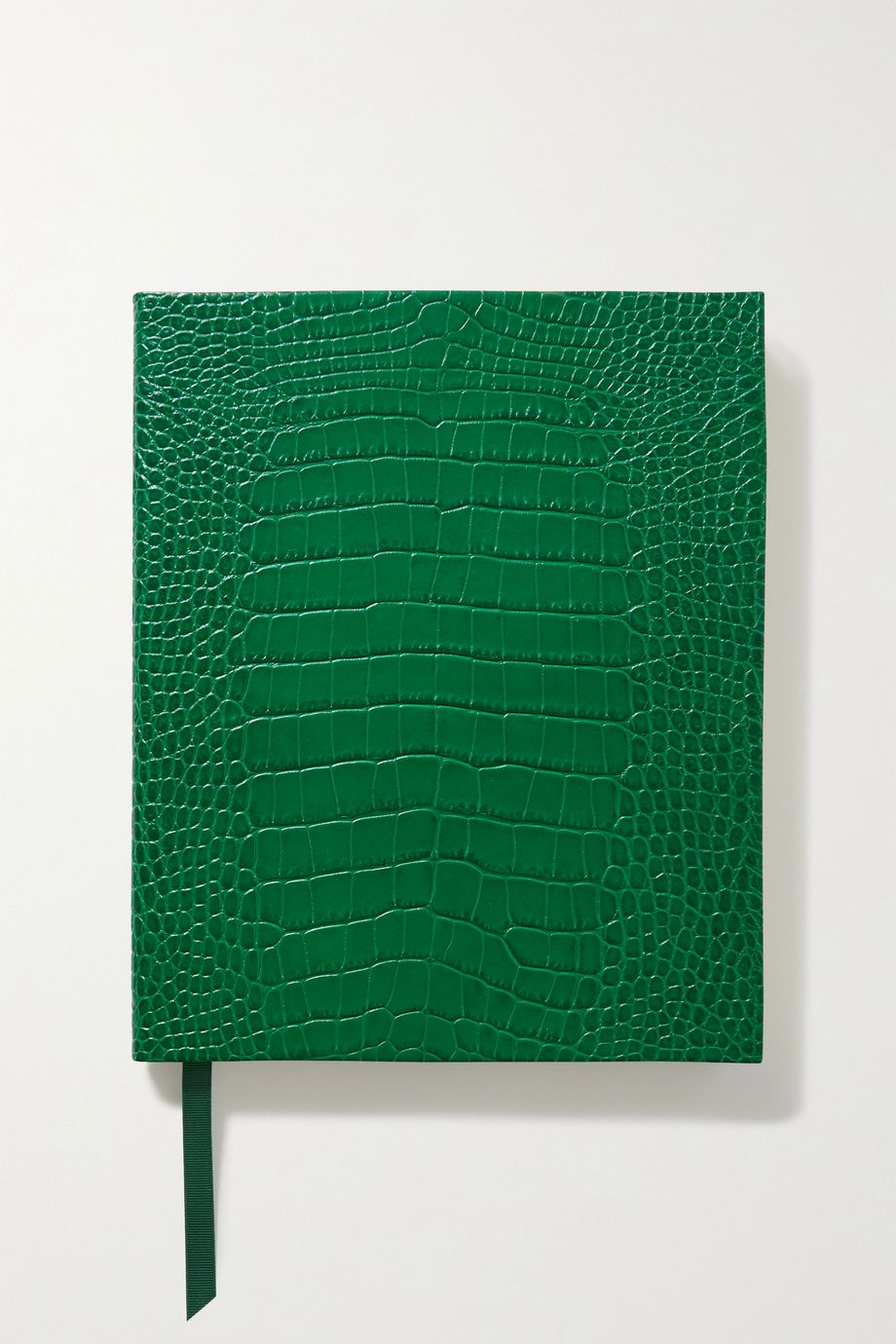 Smythson Portobello croc-effect leather notebook