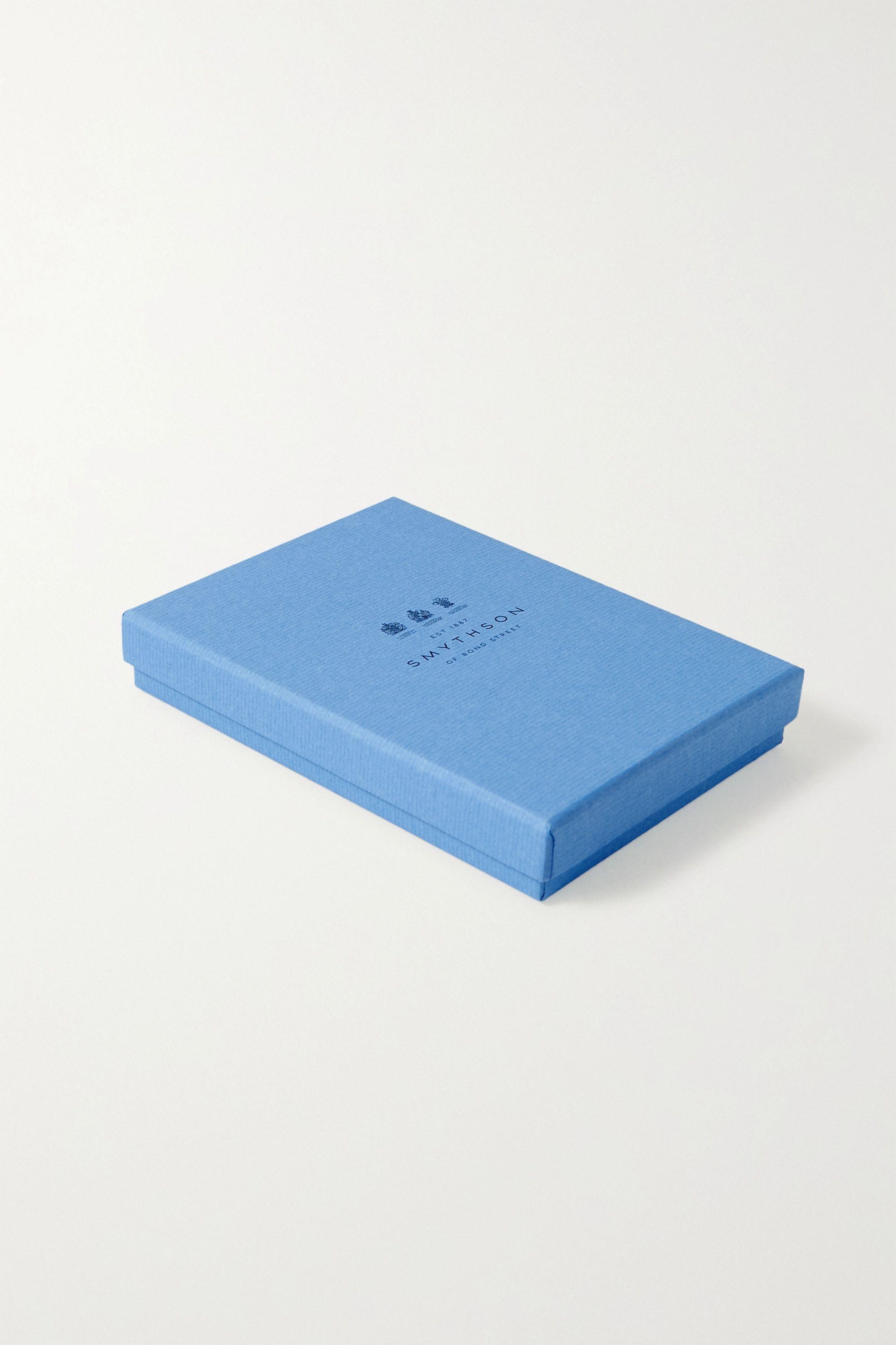 Smythson Love textured-leather notebook