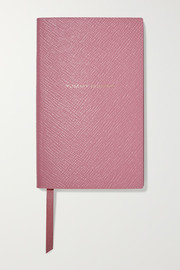 Yummy Mummy textured-leather notebook
