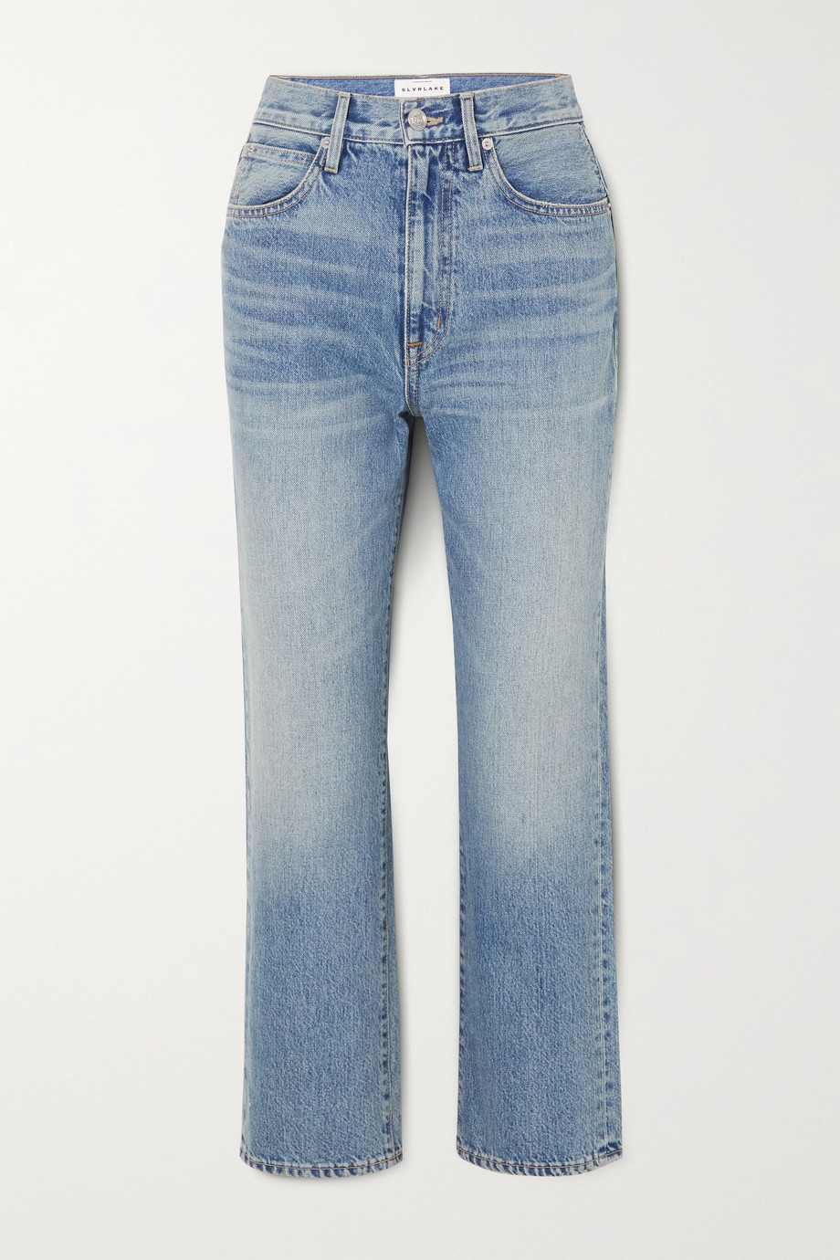 SLVRLAKE London cropped high-rise straight-leg jeans