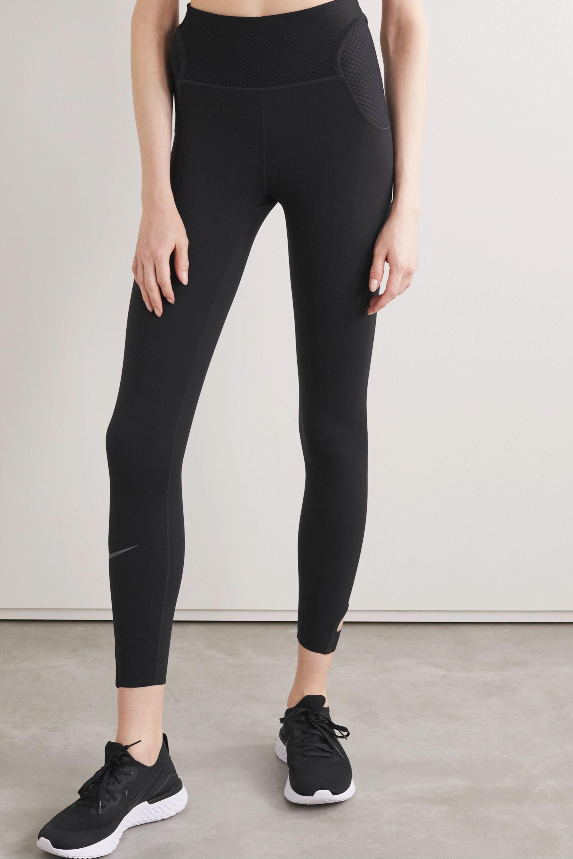 Nike City Ready cutout mesh-trimmed stretch leggings