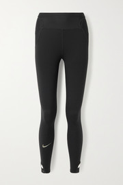 Nike City Ready cutout mesh-trimmed stretch leggings