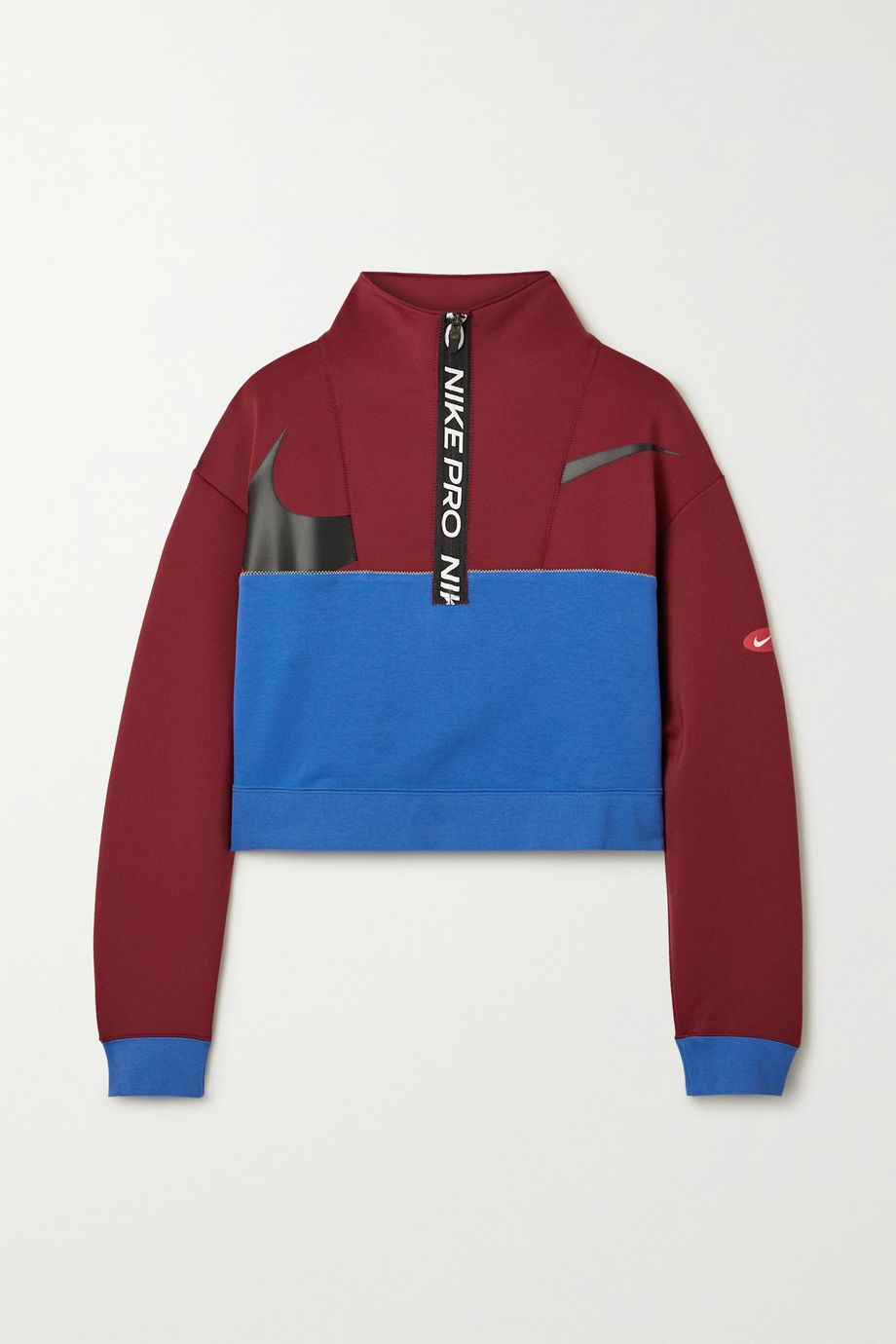 Nike Icon Clash cropped color-block Dri-FIT fleece sweatshirt