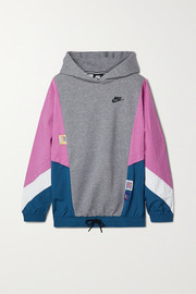 Nike Icon Clash paneled cotton-blend fleece and shell hoodie