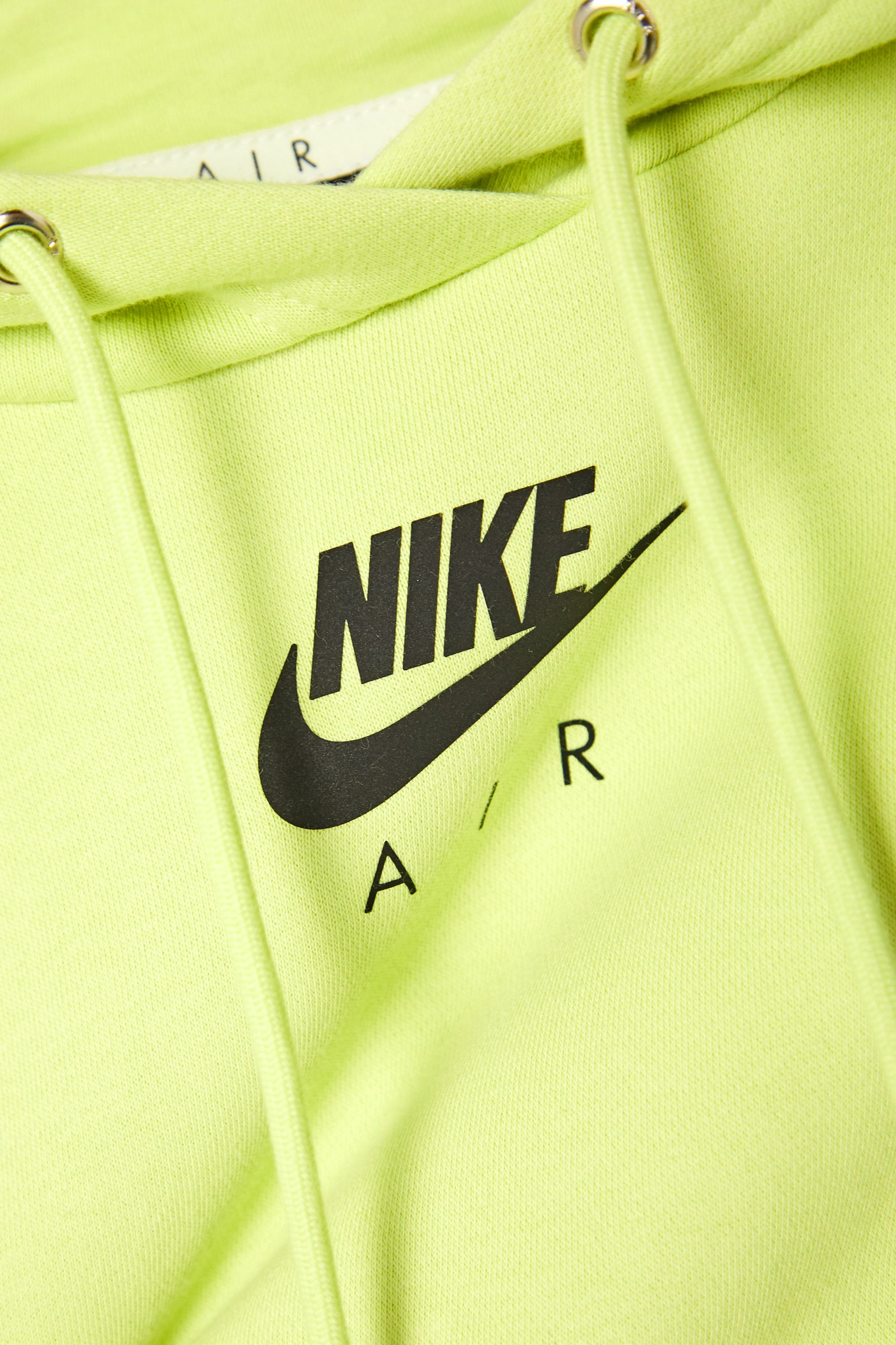 Nike Air neon printed cotton-blend jersey hoodie
