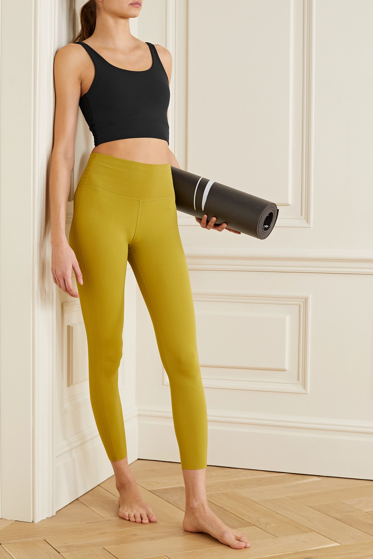 Black Yoga Luxe Cropped Dri Fit Tank Nike Net A Porter
