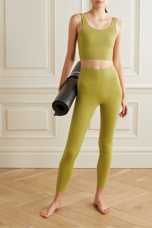 Light Green Yoga Luxe Cropped Dri Fit Tank Nike Net A Porter