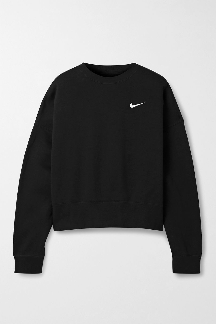 Nike Oversized embroidered cotton-blend jersey sweatshirt