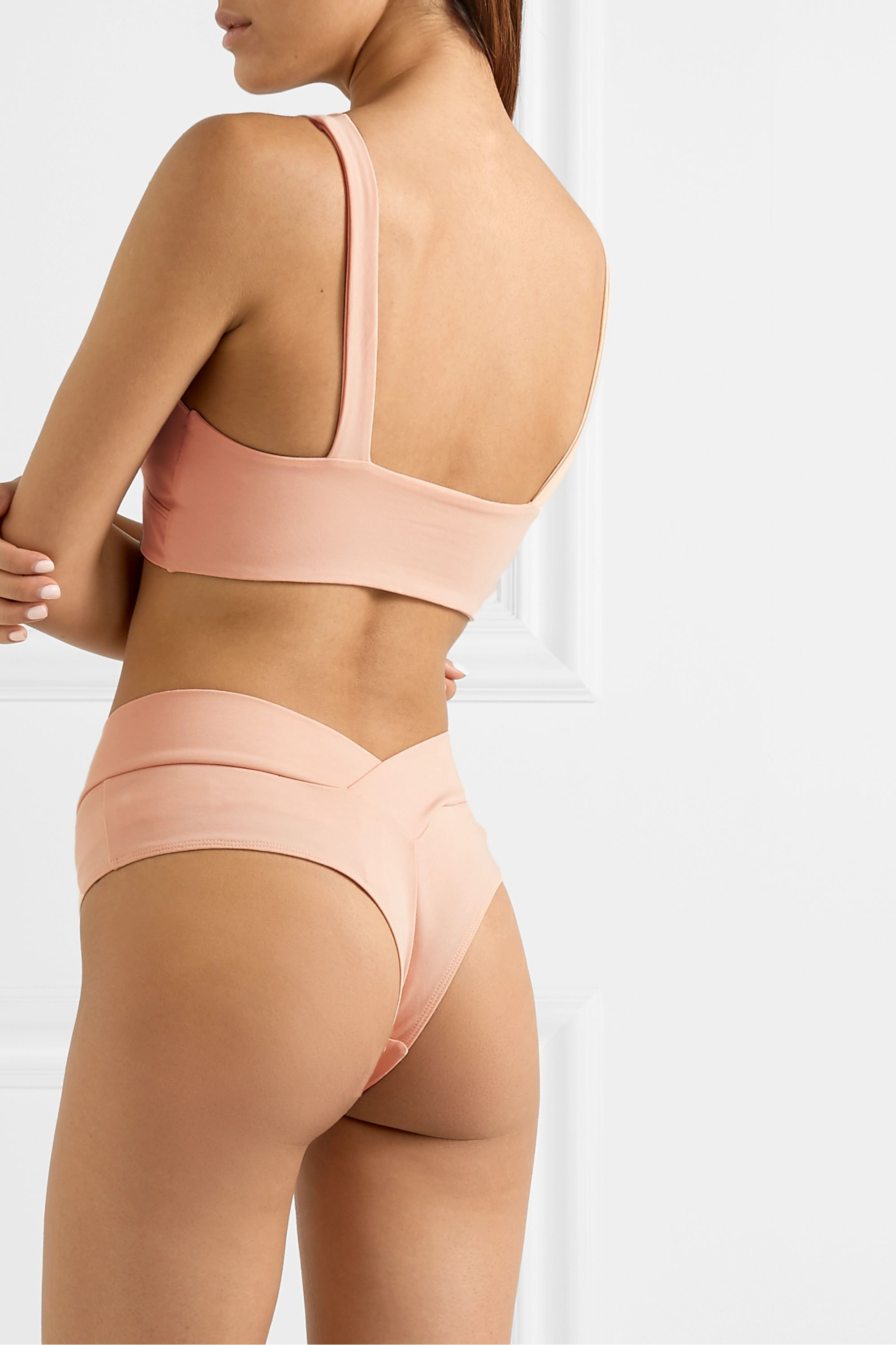 LÉ BUNS Berta set of two stretch-organic cotton soft-cup triangle bras