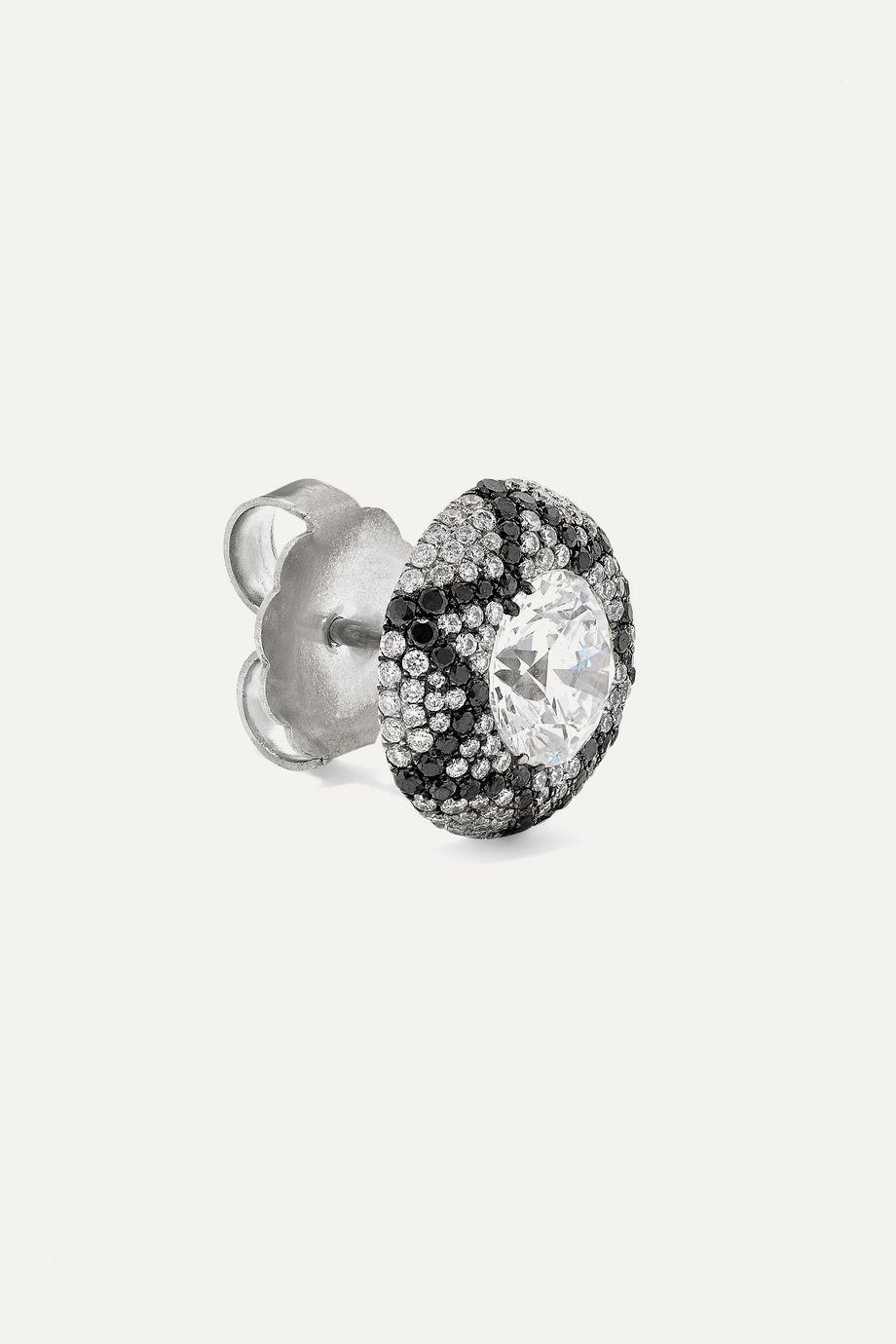 Martin Katz Starburst Ohrringe aus 18 Karat Weißgold mit Diamanten