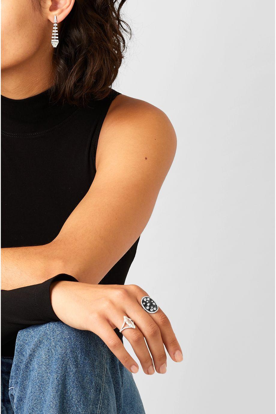 Martin Katz Starburst Ring aus 18 Karat Weißgold mit Diamanten