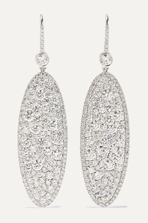 Martin Katz Champagne 18-karat white gold diamond earrings