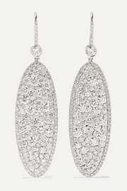 Martin Katz Champagne 18-karat white gold diamond earrings