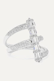 Martin Katz 18-karat white gold diamond ring