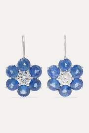 Martin Katz 18-karat white gold, sapphire and diamond earrings
