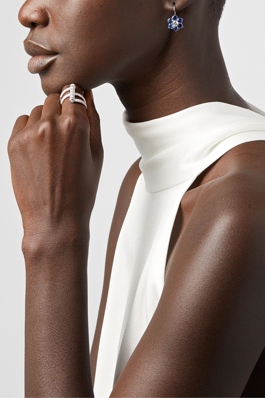 Martin Katz 18-karat white gold, sapphire and diamond earrings