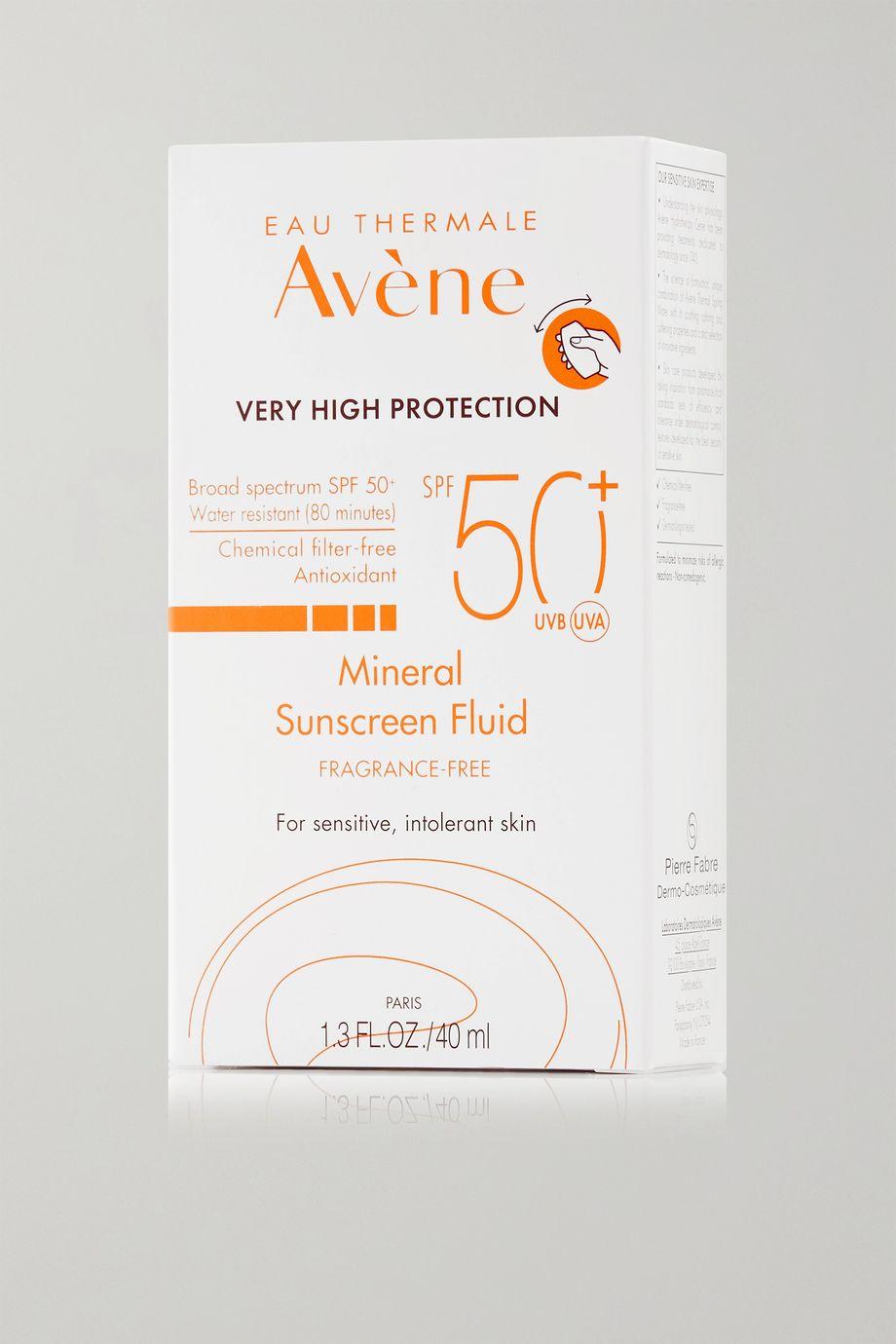 Avene SPF50+ Mineral Sunscreen Fluid, 40ml