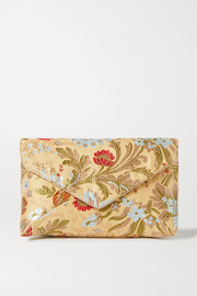 Dries Van Noten Floral-jacquard clutch