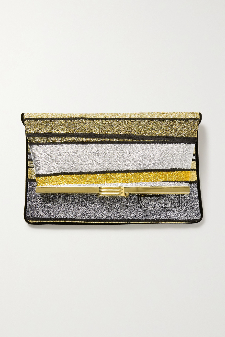 Bienen-Davis PM striped Lurex clutch