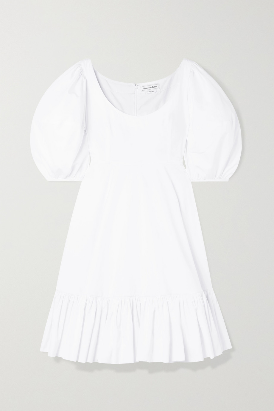 Alexander McQueen Tiered cotton-poplin dress