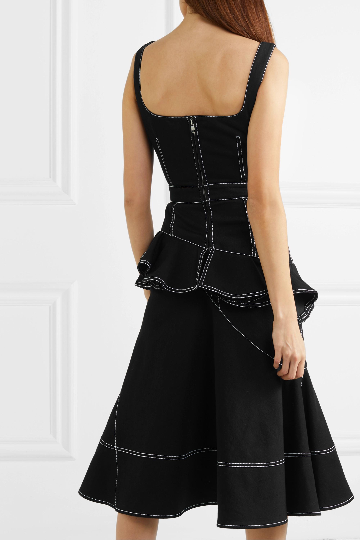 Alexander McQueen Asymmetric ruffled denim dress